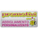 Logo dell'attività PROMOTIVI:Personalizza e distribuisce abbigliamento ed oggettistica promozionale con stampa serigrafica e ricamo ad Asti