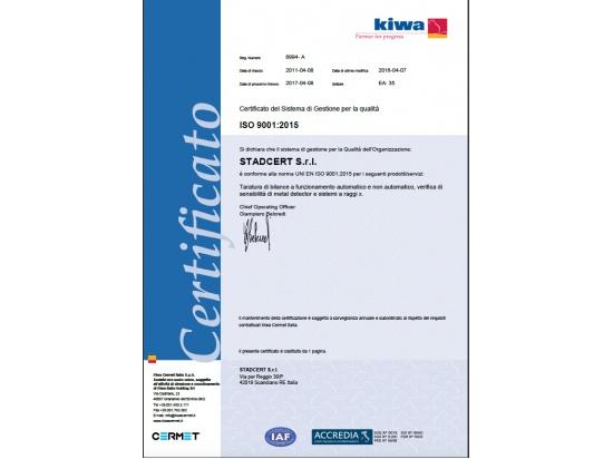 Certificazione UNI EN ISO 9001:2015...
