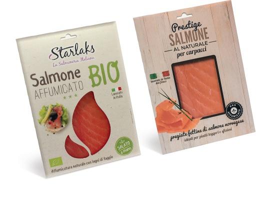 Progetto packaging confezione salmone...