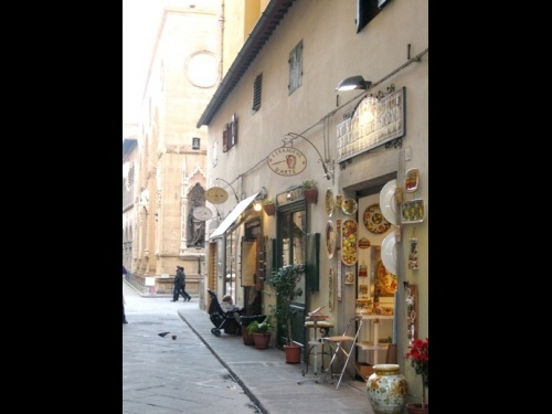 Ceramic shop in Florence