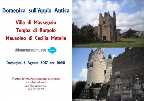 Musei Gratis. Villa di Massenzio e Mausoleo di Cecilia Metella