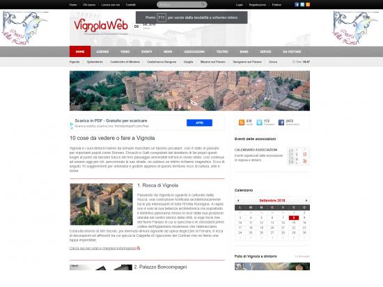 Progetto VignolaWeb: portale per la città di Vign...
