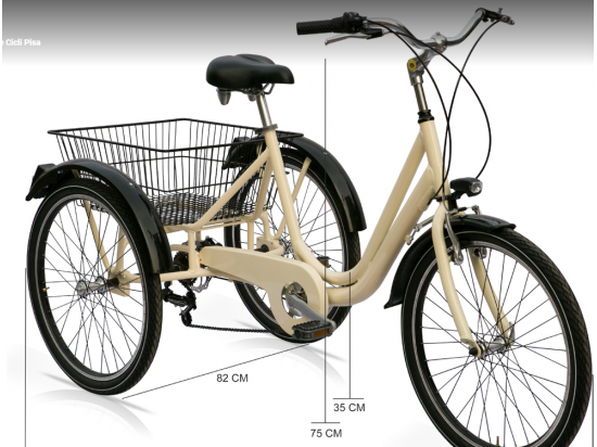 Ciclo 3 ruote. Telaio alluminio, cambio 6v, freno ...