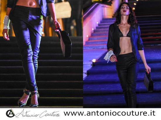 Giacca e pantalone in vera pelle realizzati a mano...