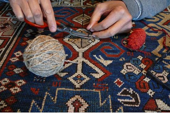 Restauro artistico tappeti antichi importanti Pers...