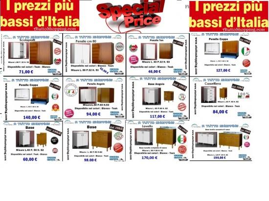 Mobili per cucina a prezzi imbattibili e consegna ...