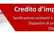 Credito d'imposta per sanificazione e dispositivi di sicu...