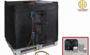 Scaldafusti varia capacità , coperte termostatiche per serbatoi IBC , scaldacisterne , bandelle riscaldanti .
