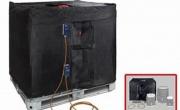 Coperte  termostatiche per serbatoi da 1000 Lt  IBC  , con  doppio  termostato  regolabile .