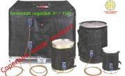Fasce scaldanti elettriche per contenitori , fusti metallici di ogni capacità , serbatoi industriali IBC .